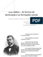 Max Weber – as Formas de Dominação e