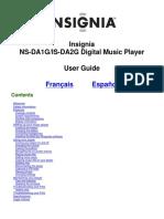 Manual Insignia Musicplayer Ns-da2g