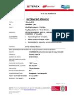 Informe del servicio de arranque de compresor TS 32