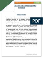 INFORME DE LABORATORIO DE SUELOS