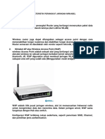 Karakteristik Perangkat Jaringan Nirkabel
