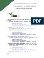 List of SCI Journals