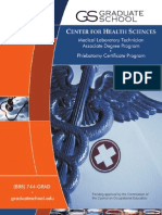 Center for Health Sciences Brochure