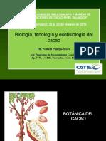Biología, fenología y ecofisiología del  cacao