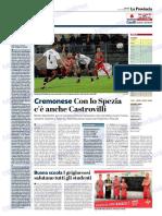 La Provincia Di Cremona 13-09-2018 - Cremonese