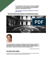 El Conservatorio y La Contrucción de Paz.