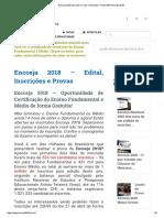 Encceja 2018 Inscrição, Provas e Simulado _ Portal INEP Encceja 2018