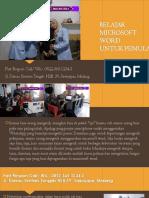Belajar Microsoft Word Professional, Fast Respon Call/ WA