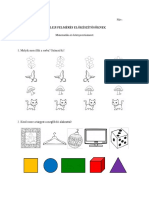 Evaluare Inițială Clasa Pregătitoare - Matematică Și Cunoașterea Mediului - Limba Maternă