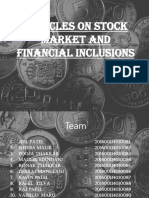 Articles on Stock Market and Financial Inclusions