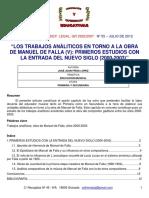 Frías Estudios Analiticis Entorno a Falla 2012