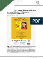 Rapporti Italia-Cina al centro di eventi in collaborazione con Uniurb - Il Mascalzone.it, 12 settembre 2018