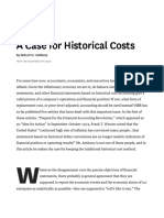 CASE HISTORICAL COST
