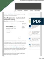 Cara Menghapus Akun Google Permanen [Email]