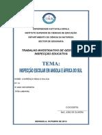 A Inspecção Escolar Em Angola