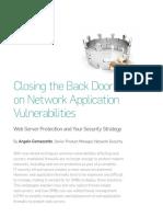 Closing the Back Door on Network Application Vulnerabilities=================================================