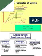 Fundamental Principles of drying