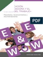 Educación Emprendedora y Mundo Del Trabajo