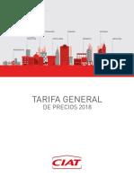 Tarifa Ciat 2018