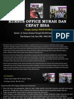 Modul Kursus Komputer, Jl. Danau Sentani Tengah H2B 39, Sawojajar, Malang.  Fast Respon Call/ WA