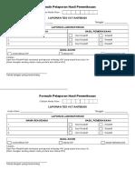 Formulir Pelaporan Hasil Pemeriksaan