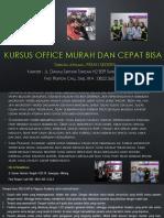 Microsoft Office Word, Jl. Danau Sentani Tengah H2B 39, Sawojajar, Malang.  Fast Respon Call/ WA
