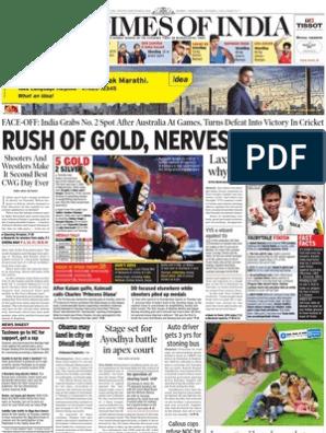 Times of India Mumbai - 6 Oct 2010 | Sports