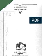 La Relatividad Coleccion Enlace Albert Einsten