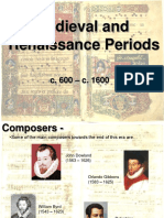 Medieval and Renaissance Music Periods