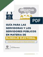 Guia Para Las Servidoras y Los Servidores Publicos Para Blindaje Electoral 2018
