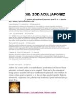 ASTROLOGIE Horoscop Japonez