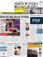 Times of India Bangalore - 6 Oct 2010