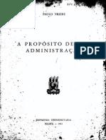 Paulo Freire - A propósito de uma administração.pdf