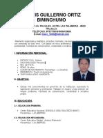 Curriculum Dennis Ortiz