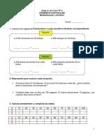 GUIA N°2 multiplicacion y division