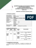 SILABO 2018 B Comercioalización de Minerales y Metales