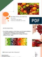 Acidez Total en Frutas- AGA