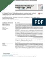 2016, Act. in Vitro Fosfomicina Frente a Pae Resistente a Carbapenemicos