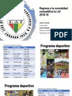 Presentación sobre detalles del calendario de  la LAI para ambos semestres.