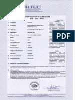 Certificado de Calibracion - Megómetro (19!04!2018)