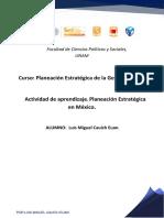 CAUICH LUIS U1 Act Planeación Estratégica en México