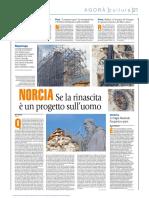 AVVENIRE_08!09!2018 Raul Gabriel_ Norcia_ Se La Rinascita è Un Progetto Dell Uomo