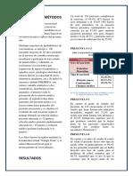 Materiales y Métodos, Resultados y Discusión