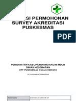 Aplikasi Permohonan Survey Akreditasi Puskesmas Kuala Cenaku