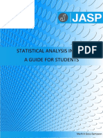 Statistical Analysis in JASP - A Students Guide v1.0