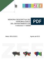 Medio Biologico - Memoria Descriptiva de Hidrobiologia
