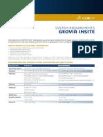 GEOVIA InSite 4.7 SystemRequirements