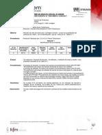 Certificado Enfierradura