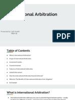 IBL Lalitsondhi International Arbitration