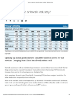 Issues in opening indian goods market